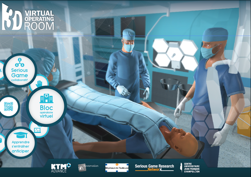 Serious games - 3D Virtual operating room - Champollion Albi